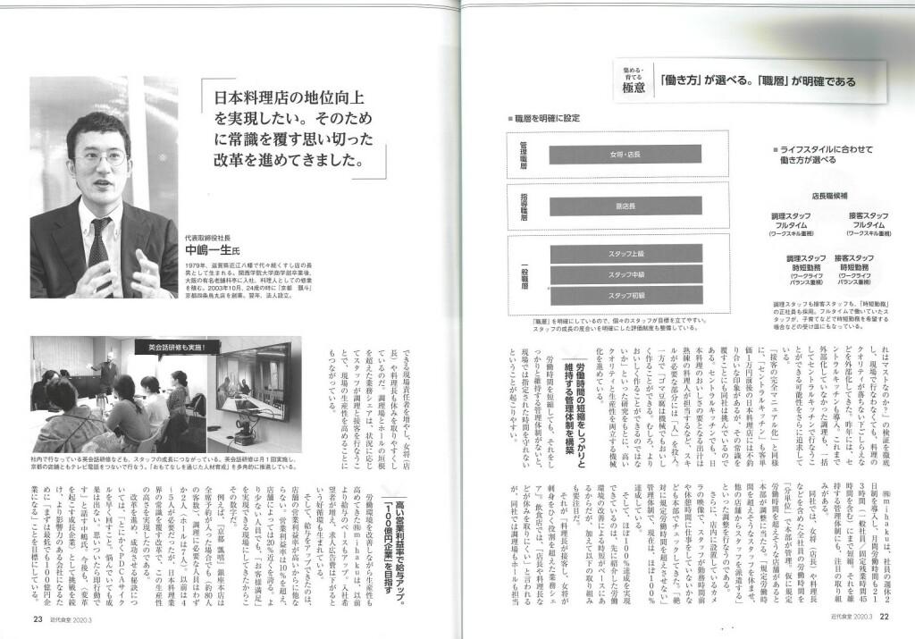 近代食堂,雑誌掲載,掲載,記事,mihaku
